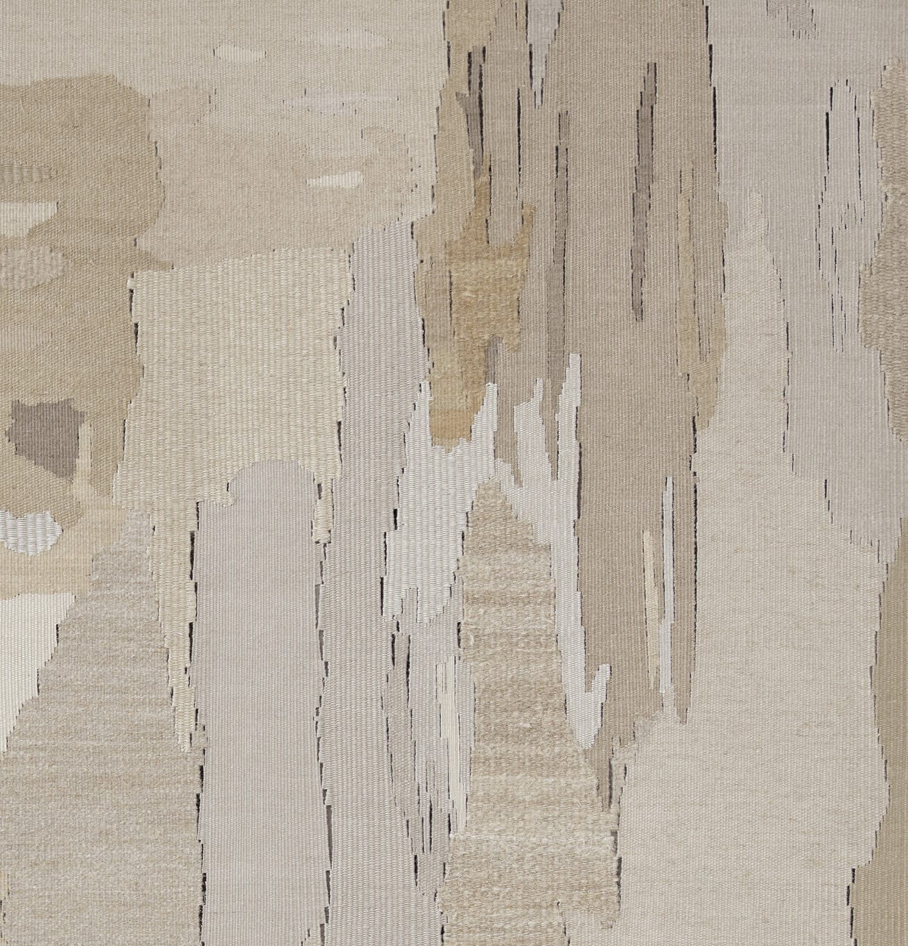 "<p>Andreas Eriksson, <em>Weissensee No. 18</em>, 2019. Detail.</p><h3>""Territories of the finished tapestries might be distinguished by a particular knotted texture or the stands of long fibre sprouting from the surface. Andreas has described the tapestries as 'existential landscapes'. We might also see them as a conceptual extension of painting in which the picture migrates to the canvas itself."" </h3><p><strong>- Hettie Judah on Andreas Eriksson, 2020</strong></p>"