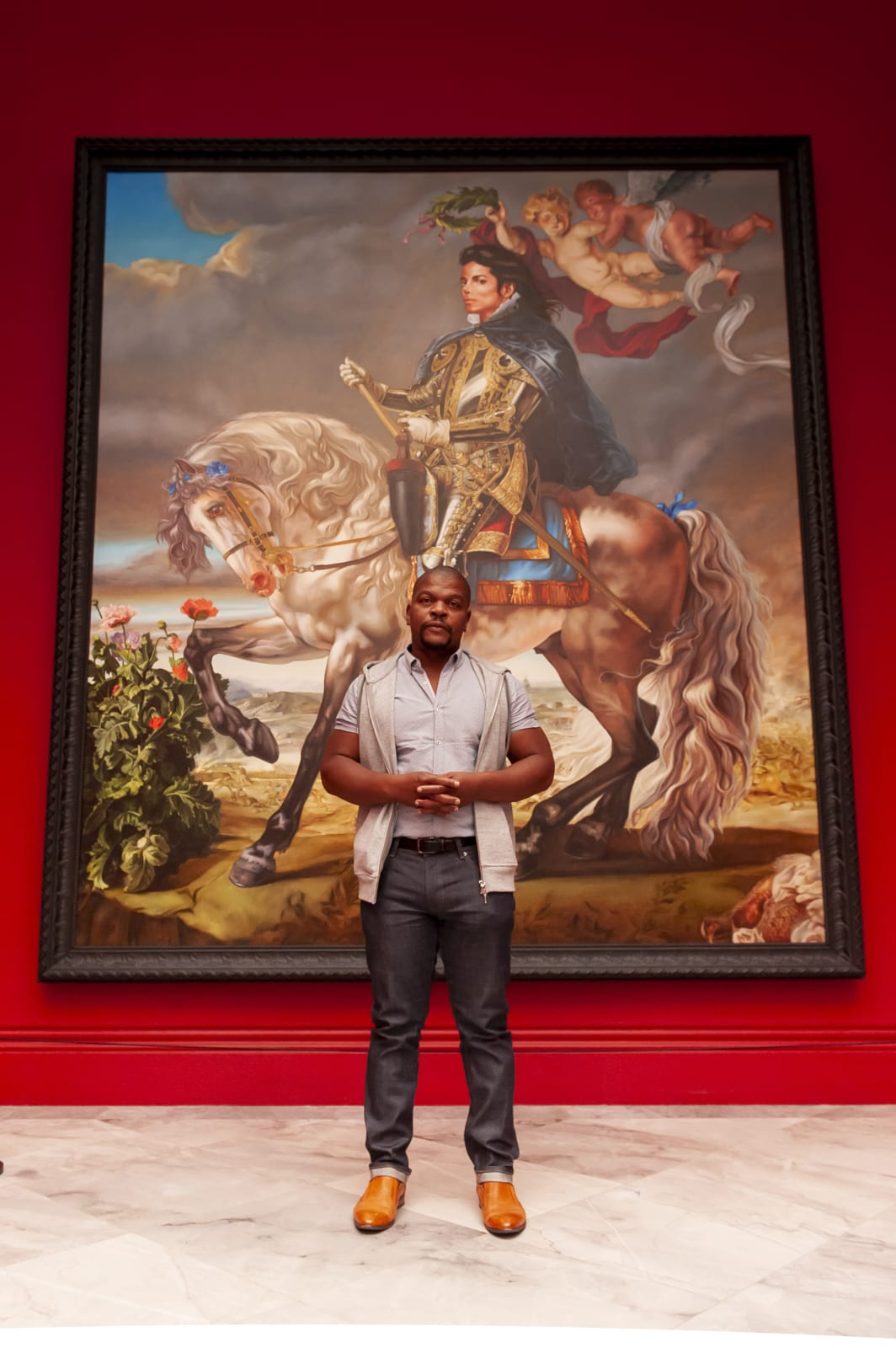 <p>Installation view: 'Michael Jackson: On The Wall', National Portrait Gallery, London (2018)</p>