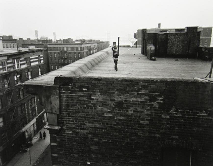 Untitled, East 100th Street (Boy on Roof with Kite), 1966 - 68