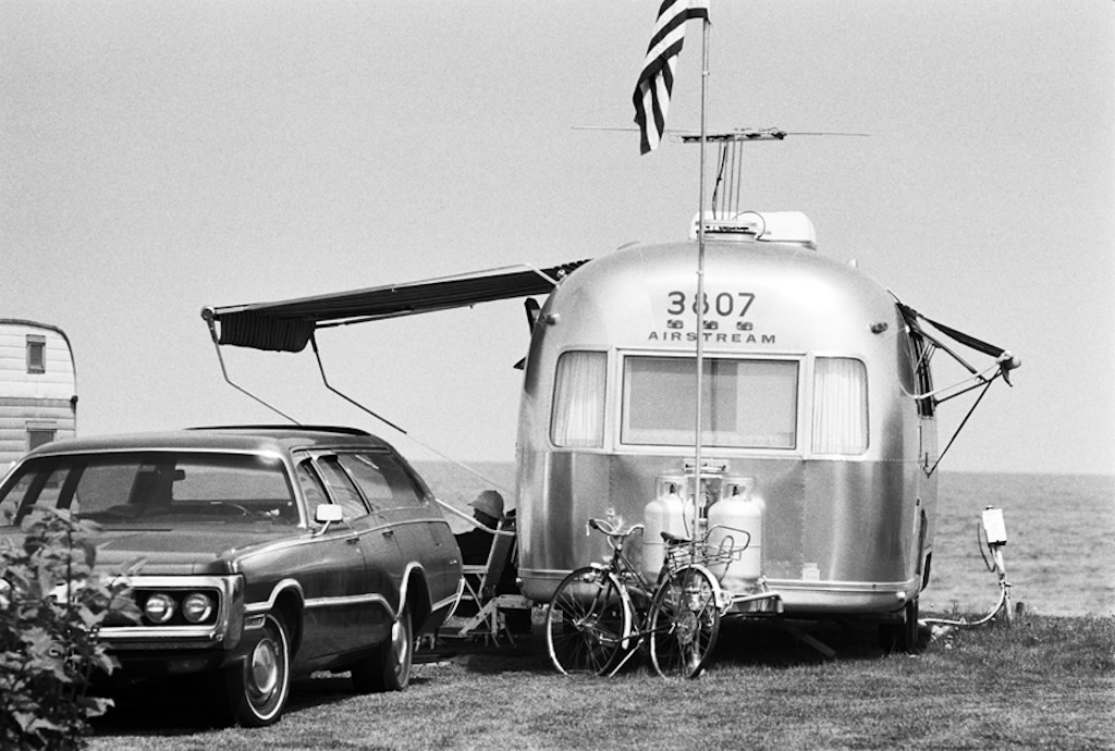 Airstream Trailer, Hampton Beach, New Hampshire, 1975