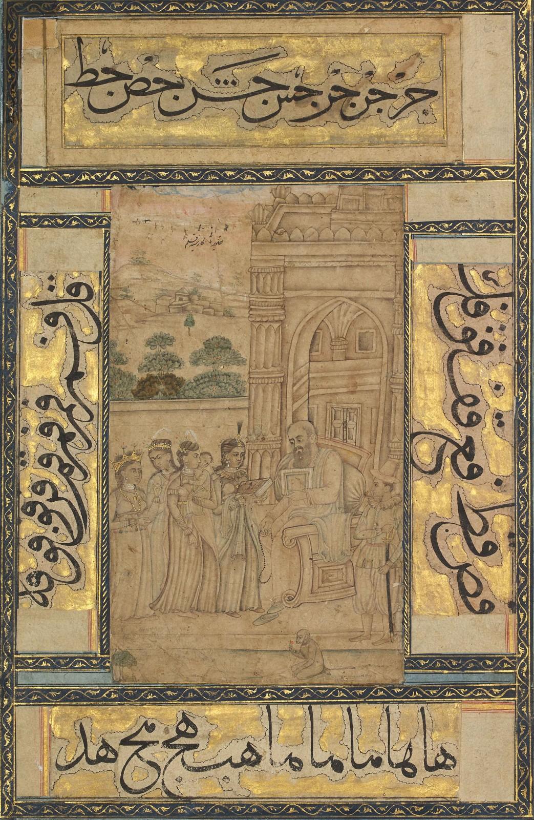 A scene in the temple, Deccan, late 17th century