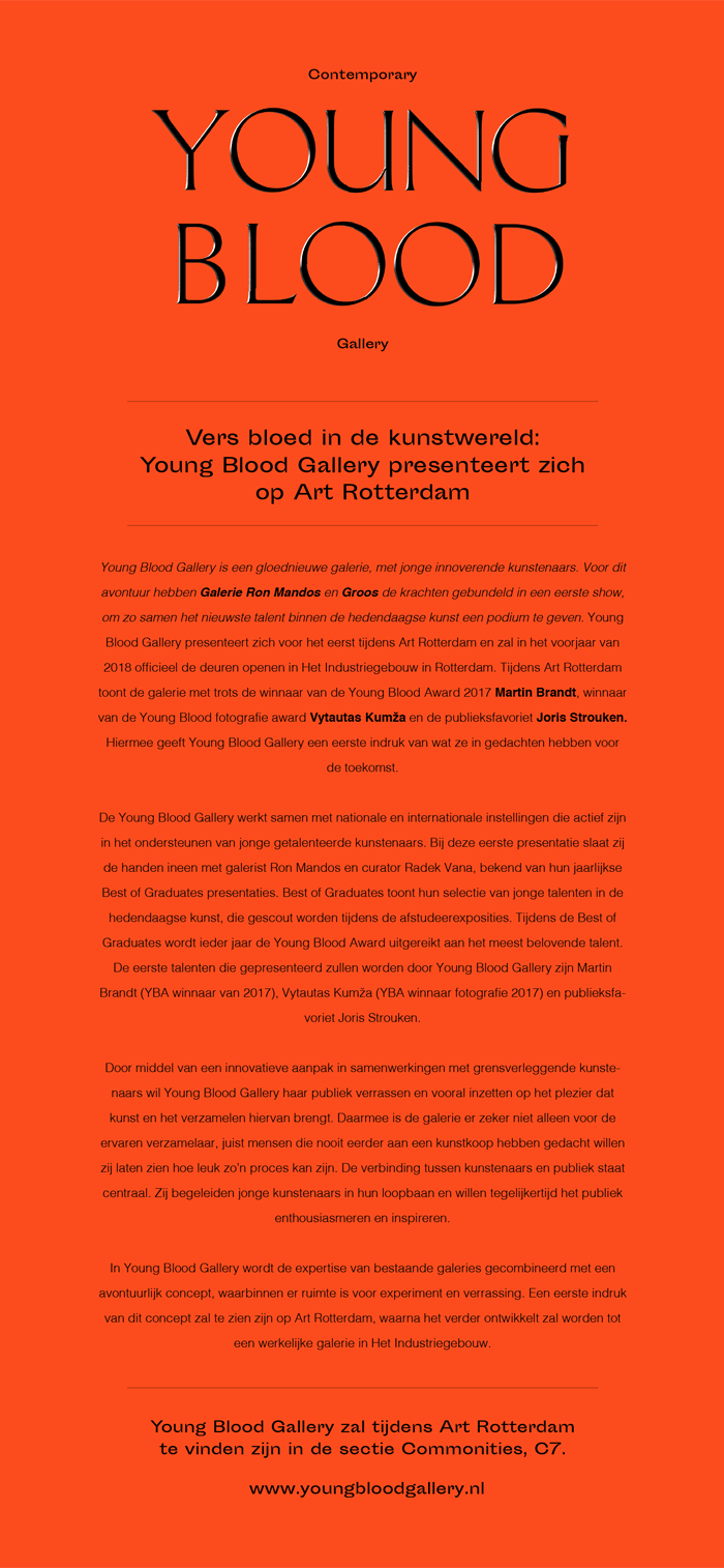 Young Blood Gallery | Persbericht