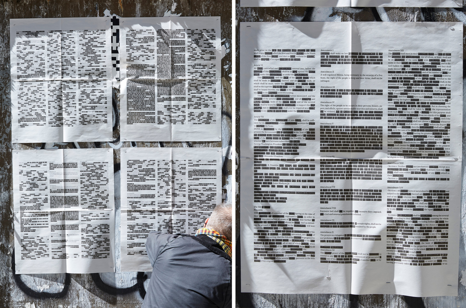 Russell Maret, United States Constitution and Amendments, Redacted, 2021
