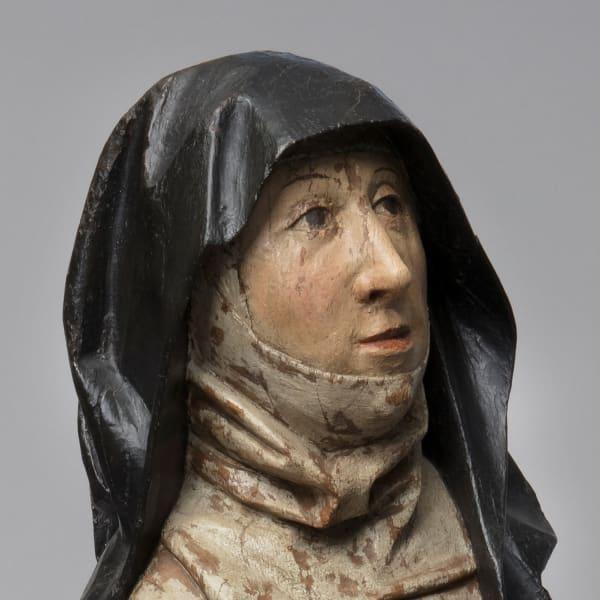 "<span class=""title""><em>A Benedictine nun in prayer, possibly Hildegard of Bingen</em>, c. 1500</span>"