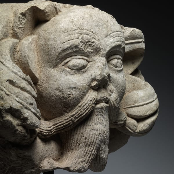 <span class=&#34;title&#34;><em>Green Man with a Moustache </em>, c. 1120</span>