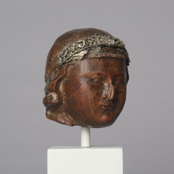 """<span class=""""title""""><em>The head of the Christ Child, from a Sedes Sapientiae group</em>, c. 1220</span>"""
