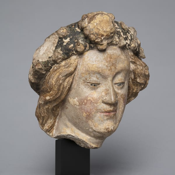 "<span class=""title""><em>The head of a youth with a jewelled diadem, possibly Saint Michael</em>, c. 1420 - 40</span>"