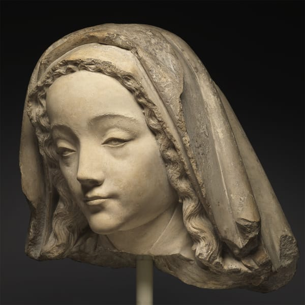 "<span class=""title""><em>Head of the Virgin</em>, first half of the 15th century</span>"