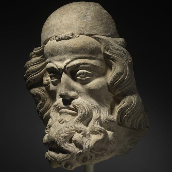 """<span class=""""title""""><em>Head of a Prophet</em>, c. 1340 - 50</span>"""