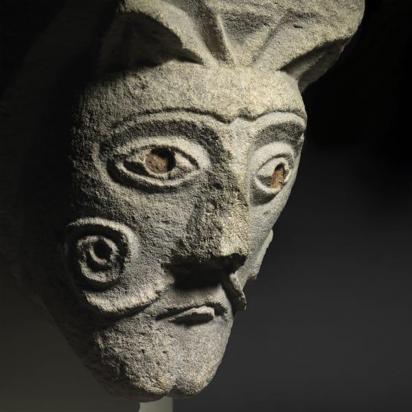 """<span class=""""title""""><em>A Corbel Head with a Moustache </em>, c. 1120</span>"""