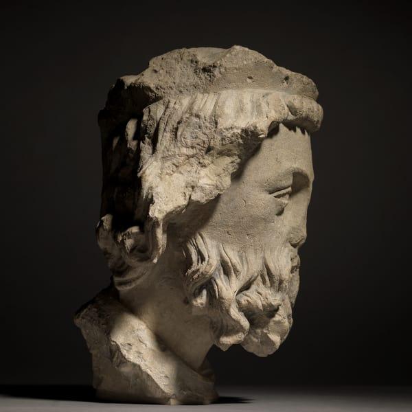 "<span class=""title""><em>Head of a Bearded King</em>, c. 1250</span>"