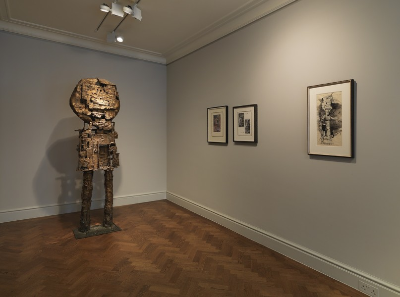 Front Gallery (Clockwise) : St Sebastian IV (1957), Composizione Per Parete (1948), Sadism/Confession (1948), Standing Figure (1956)