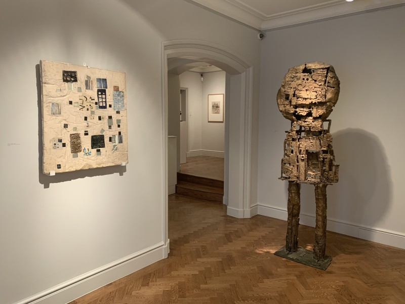Front Gallery (Left to Right) : Abstract Relief (1955) and St Sebastian IV (1957)