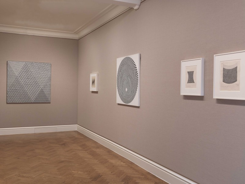 Front Gallery (clockwise): Tremor (1962), Untitled [Study for 'Hero' series] (1963), Blaze 4 (1963),  Untitled [Study for Climax] (1963) and Untitled [Study for Zig Zag] (1963)