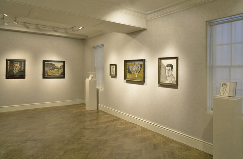 Back Gallery (clockwise): Stephen Spender (1940), Gerald Wilde (1943), Dead Heron (1945), Man at Night (Self Portrait) (1947–48)