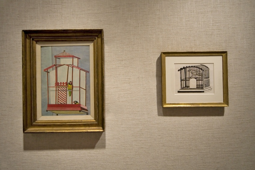 Left to right: The Birds of Olivier Larronde (1946),Bird in a Cage (1946)