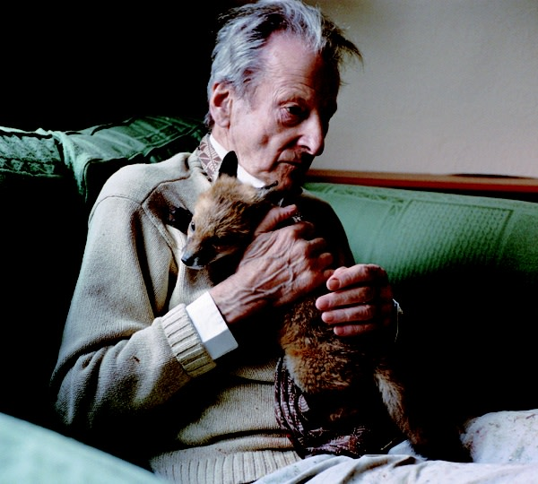 Lucian with Fox Cub, 2005