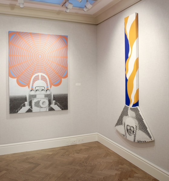 Middle Gallery (Left to Right) : Deceleration IV (1964) and Pendulum (1964)