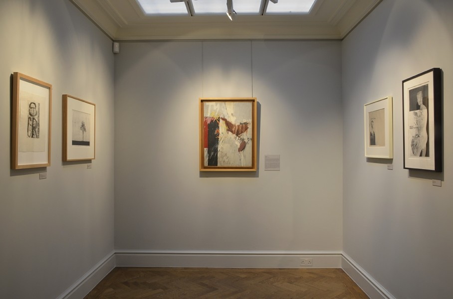 Middle Gallery (left to right) : Queen (1961), Study for Seven Stone Weakling (1962), Untitled (Big Tyger) 1960, In Memoriam Cecchino Bracci (1962), Self Portrait (1962)