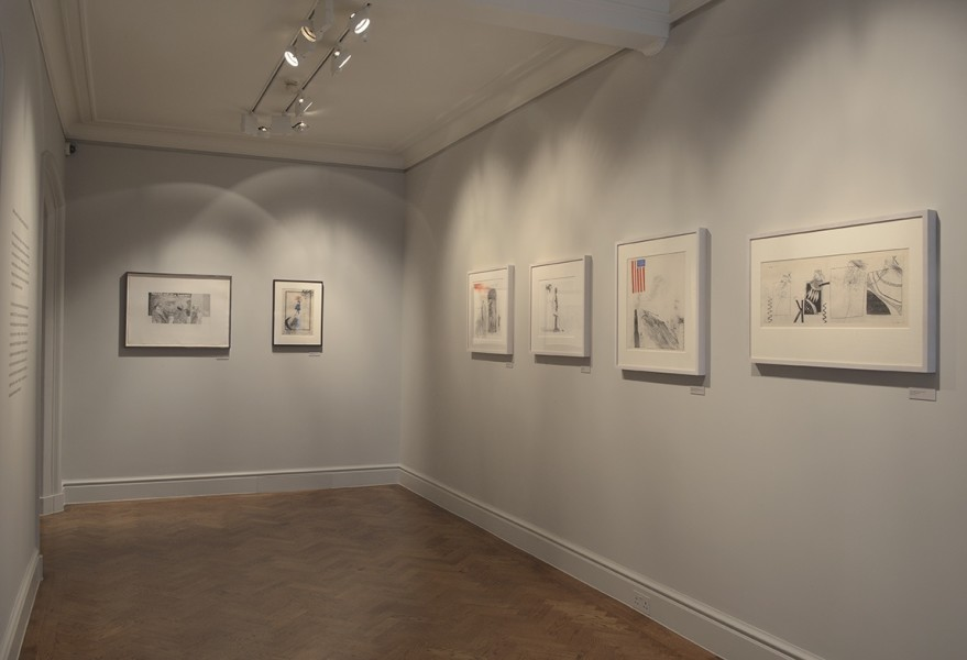 Front Gallery - Right wall (Left to Right) : Mirror, Mirror on the wall (1961), The Marriage (1962), My Bonnie Lies Over the Ocean (1962) and Three Kings and a Queen (1961)