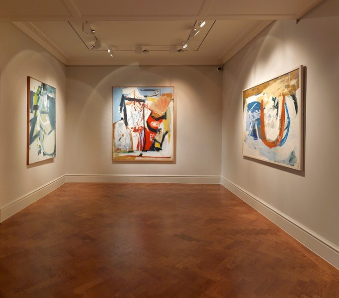 Back Gallery (Clockwise) : Halsetown (1961), Saracinesco (1961) and Loe Bar (1962)