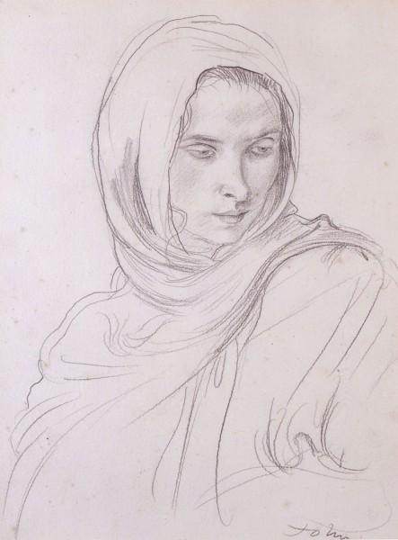 Dorrelia wearing a shawl