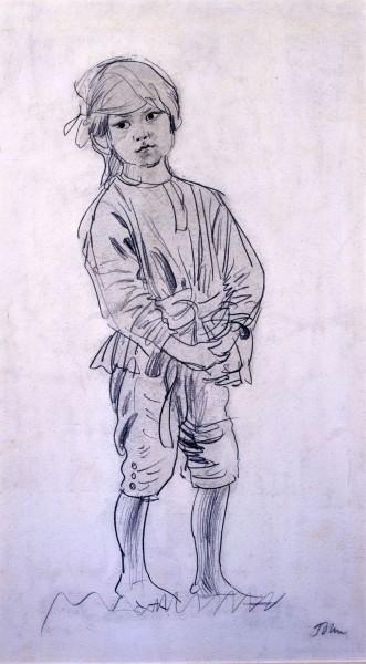 Caspar standing (circa 1908)