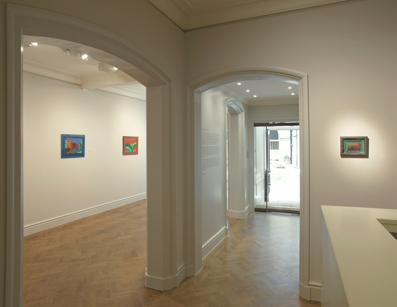 Front Gallery (clockwise) : After Visiting David Hockney (1991-92), Leaves (1987-88) and A Pyramid for Antony (1986-88)