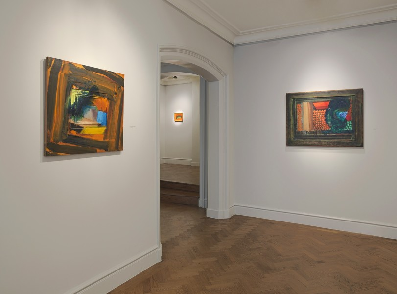 """Front Gallery (clockwise) : It Can""""t Be True (1987-90), Small Indian Sky (1990) and Menswear (1980-85)"""