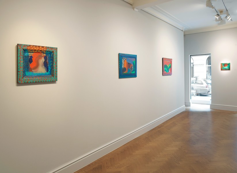 Front Gallery (clockwise) : The Spectator (1984-87), After Visiting David Hockney (1991-92), Leaves (1987-88) and Venice Sunset (1989)