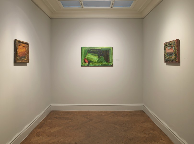 Middle Gallery (clockwise): Old sky (1996-97), Clean Sheets (1982-84) and View from Venice (1984-85)