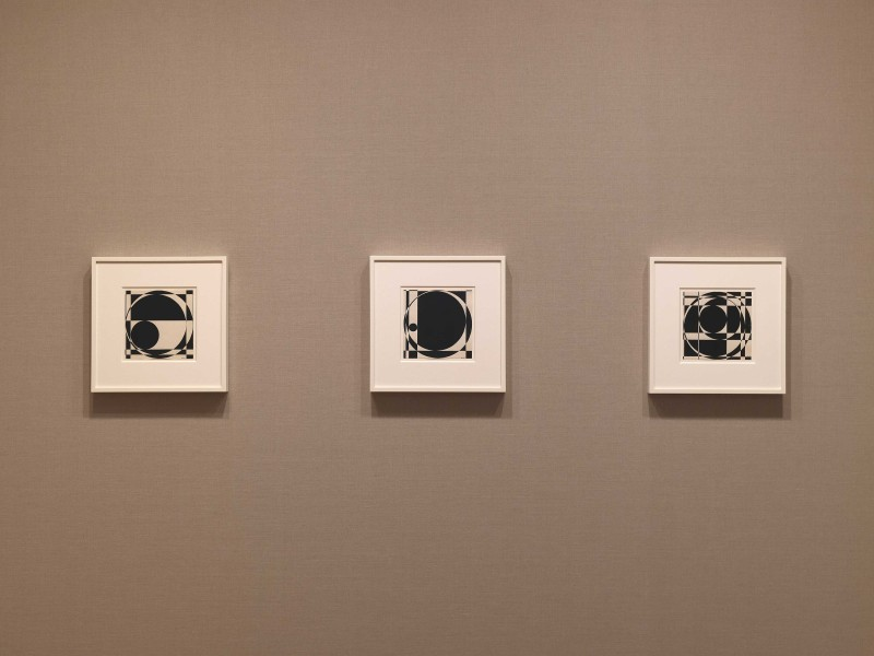 Left to right: Untitled (1960), Untitled (1960) and Untitled (1960)