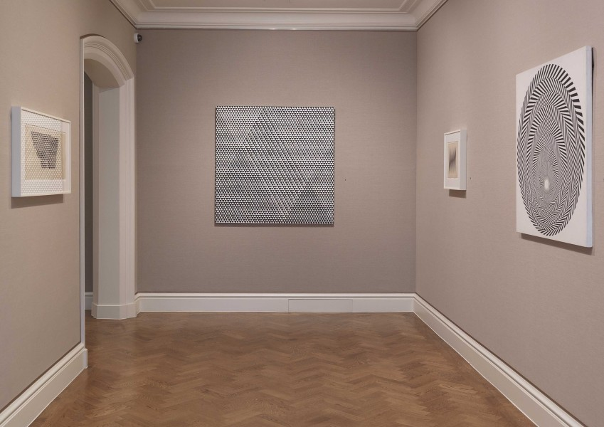 Front Gallery (clockwise): Untitled (1963), Tremor (1962), Untitled (1963) and Blaze 4 (1963)