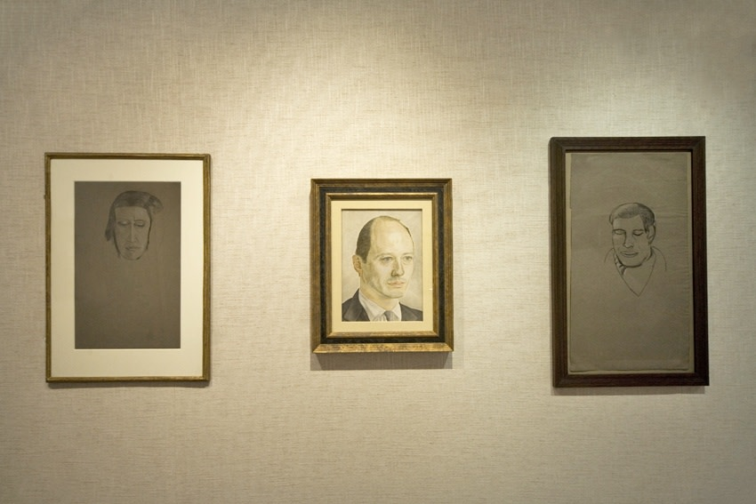 Left to right: Head of a Woman (1943–44) Portrait of a Man (1954) Head of a Poet (circa 1945)