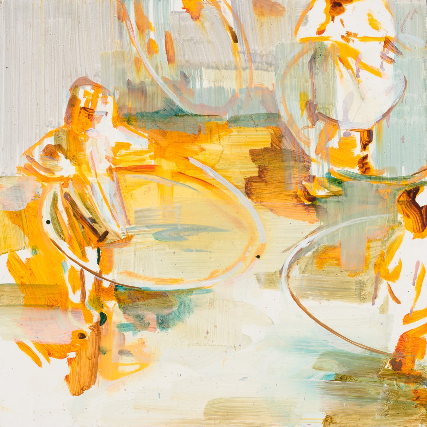 Katharine Le Hardy, Circles everywhere, yellow, 2021