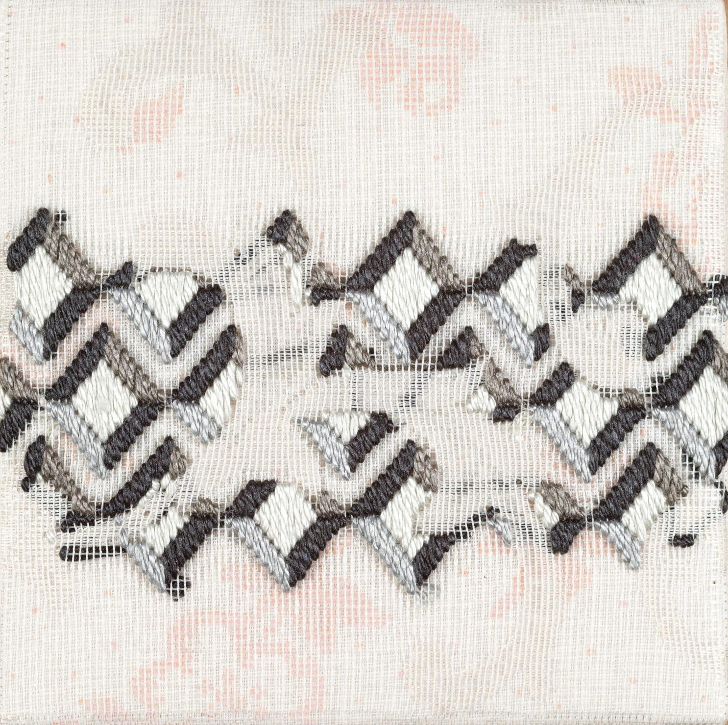 Cecilia Charlton, Triple-layer gather-gusset [grey diamonds], 2019
