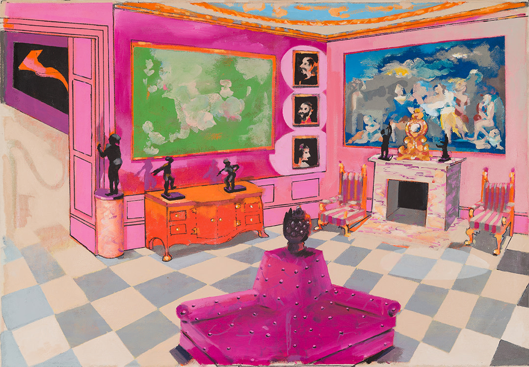Stephen Farthing RA, The Museum of the Boudoir, Manchester Square, 2017
