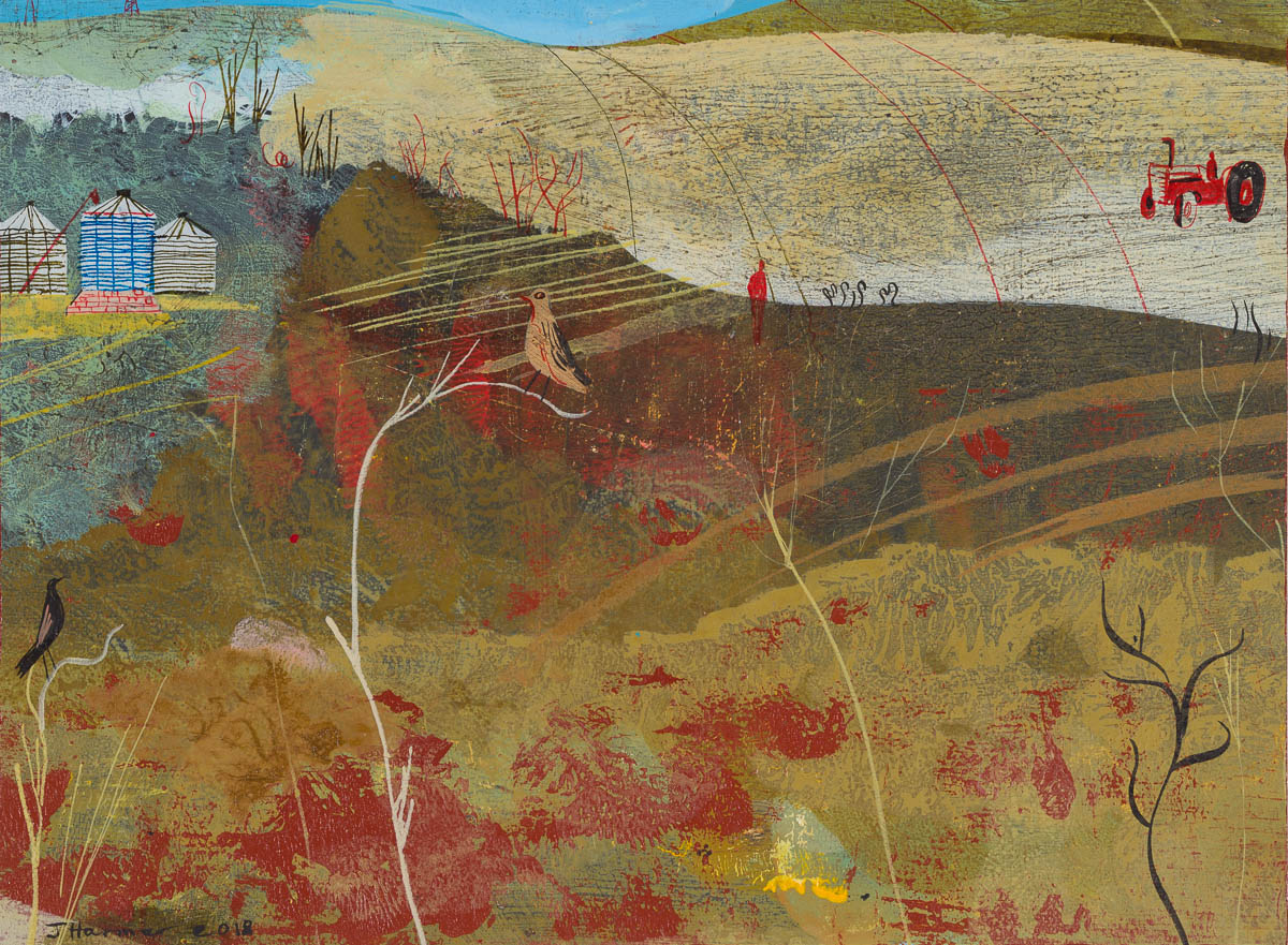 John Harmer, Red Tractor, 2018