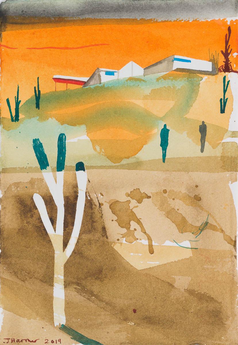 John Harmer, Orange Sunset, 2019