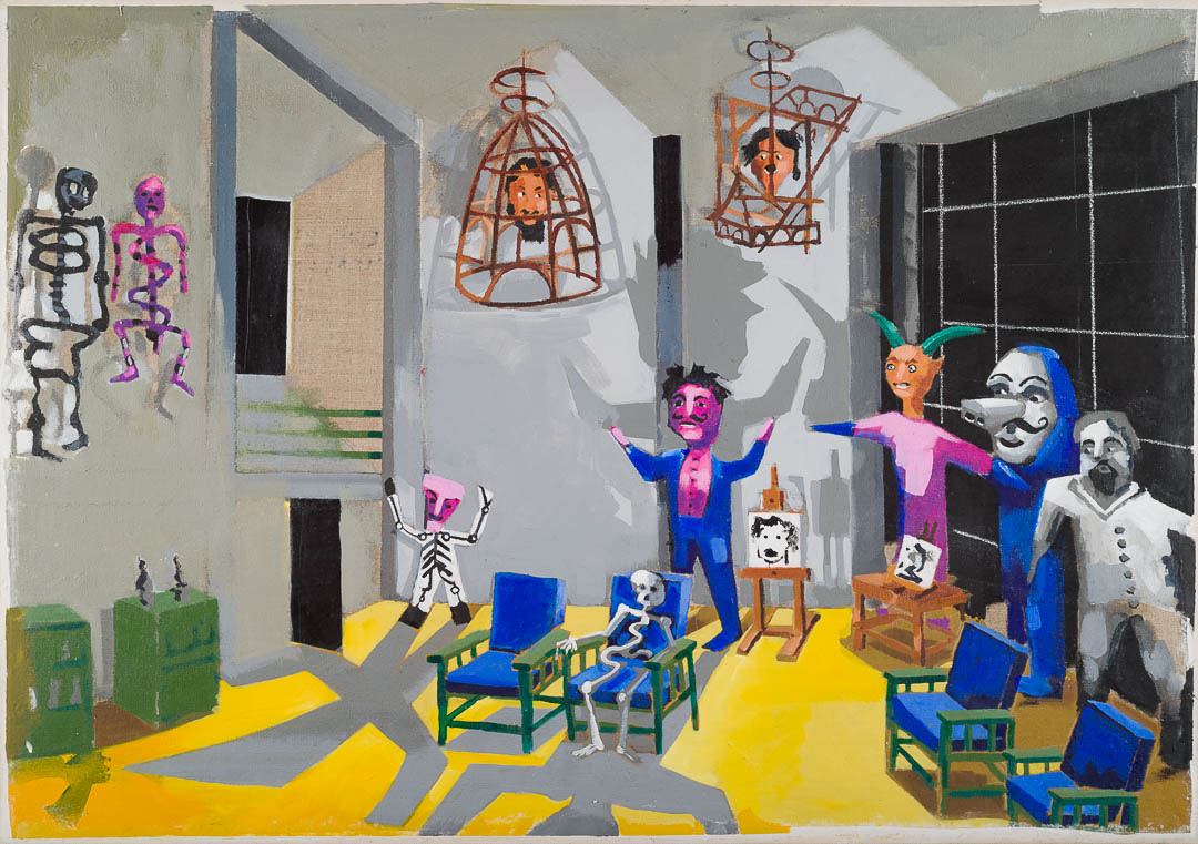 Stephen Farthing RA, The Museum of Exotic Modernism: St Angel, 2016