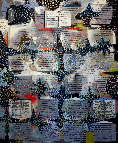 Stephen Farthing RA, The Miracle of the Book, 2012