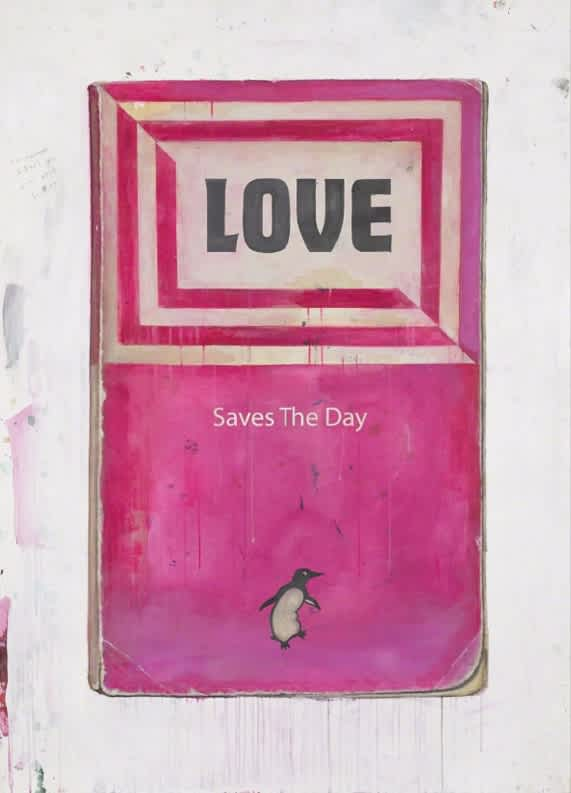 Harland Miller Love Saves the Day Screenprint