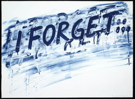 Mel Bochner I Forget Etching with aquatint