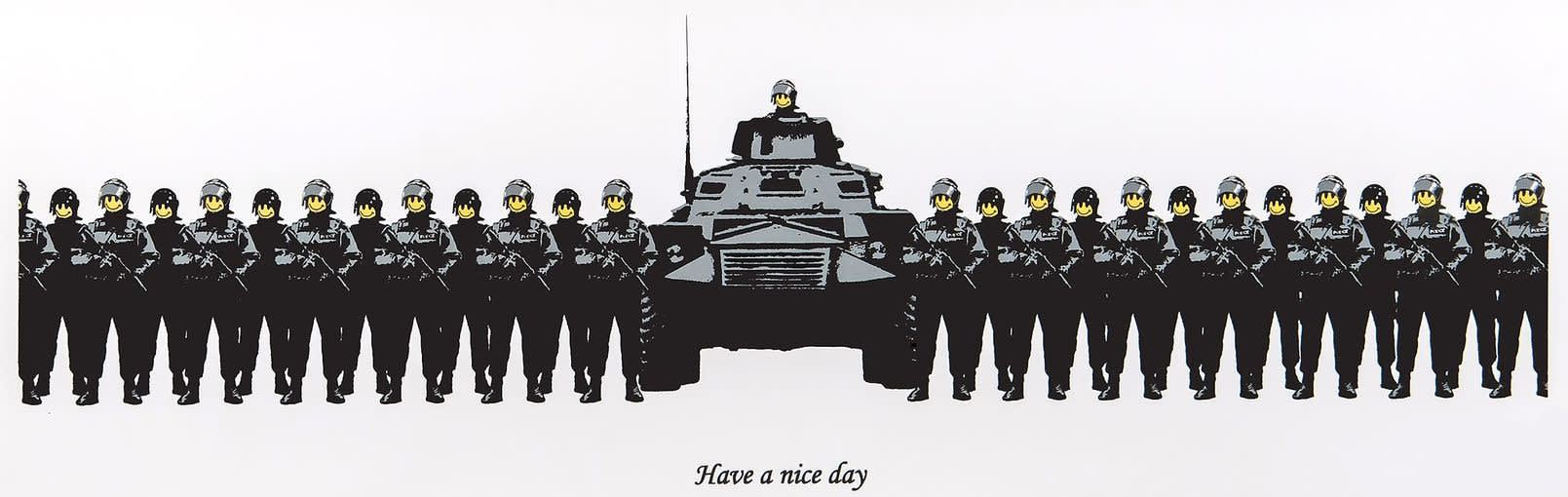 Banksy Have a Nice Day (Unsigned) Screenprint