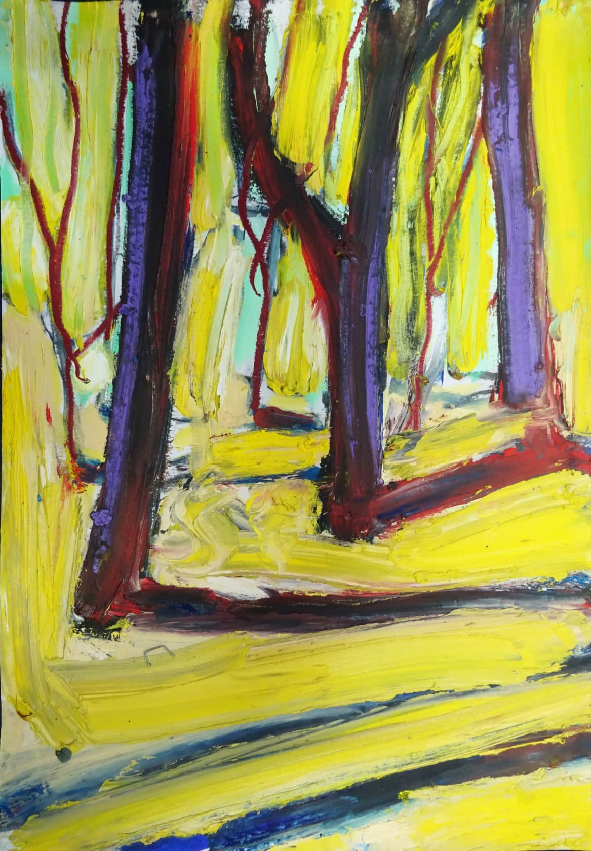 Chris Moon Study for Epping Forest 25 Oil Pastel and Charcoal on Paper