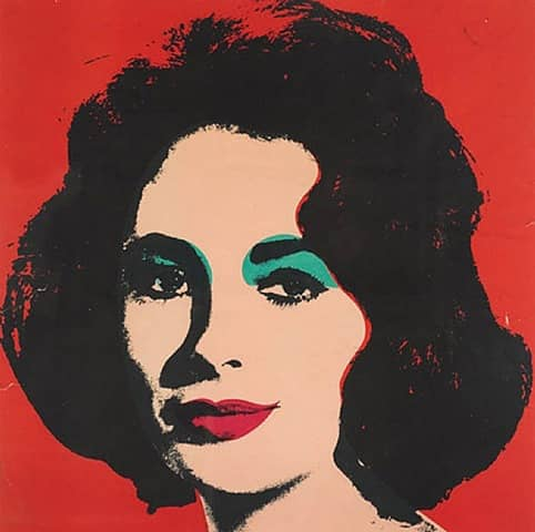 Andy Warhol Liz Lithograph in Colours on Wove Paper