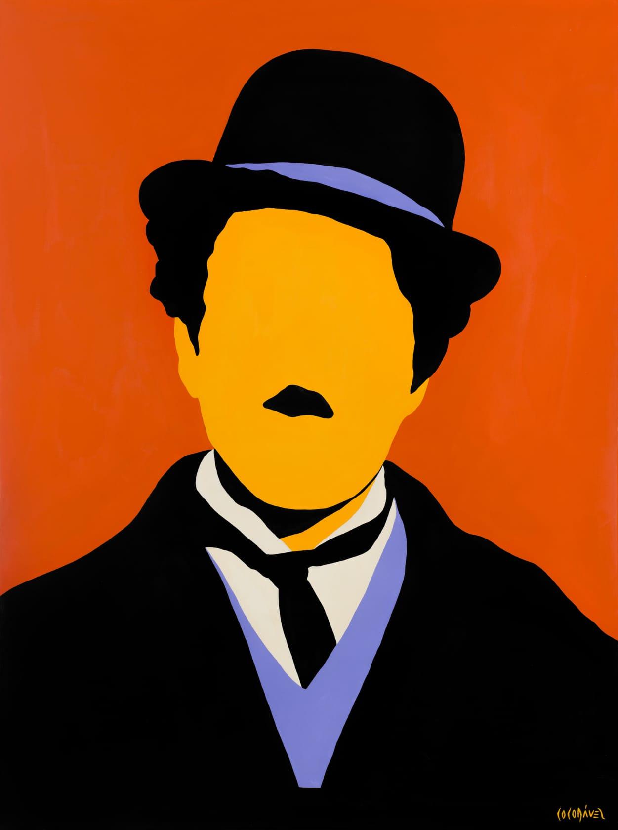 Coco Davez Charlie Chaplin Acrylic on Canvas