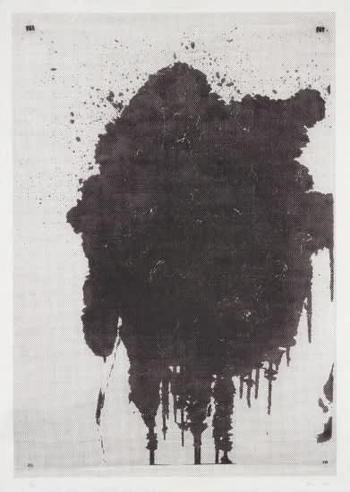 Christopher Wool Untitled Screenprint on Japanese Paper