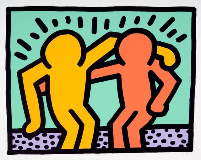Keith Haring Best Buddies Screenprint