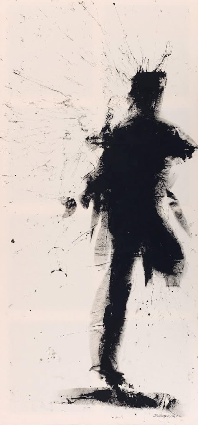 Richard Hambleton, Standing Shadow - Run, 2018